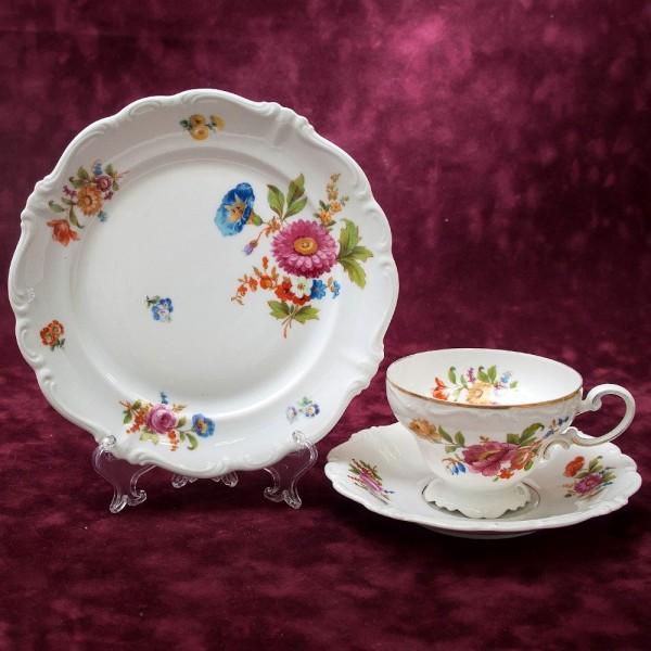 Коллекционная Чайная пара+Тарелка (Тройка) «POMPADOUR» Фарфор РОЗЕНТАЛЬ ROSENTHAL 30-е гг.
