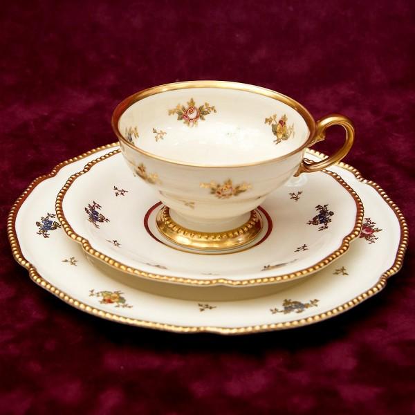 Коллекционная Чайная пара+Тарелка (Тройка) «Sans Souci Blumen» Фарфор ROSENTHAL -1939 год.