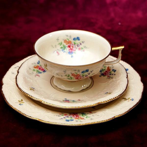 Коллекционная Чайная пара+Тарелка (Тройка) «Sans Souci» Фарфор ROSENTHAL -1940 год.
