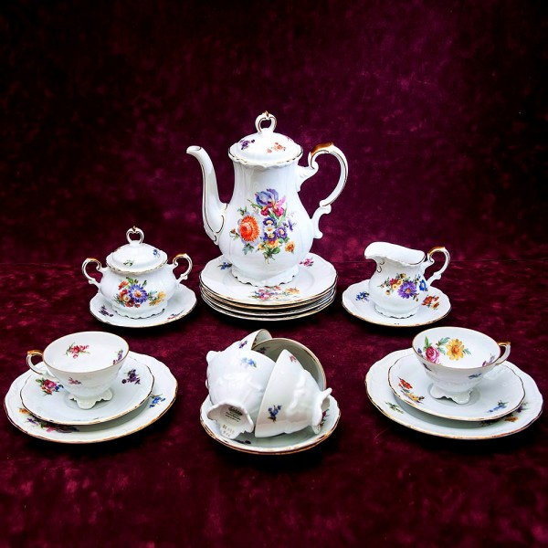 Чайный сервиз «MARIA - THERESIA» на 6-ть персон Фарфор Edelstein Германия 50 -е годы ХХ века.