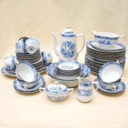 Чайно-Столовый сервиз «Китайский Шелк» на 6-ть персон Фарфор Stelmann Weiden Германия 70гг.