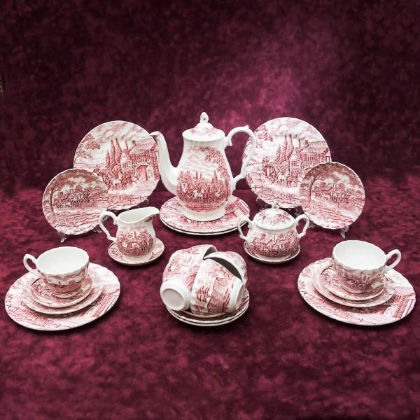 Классический Чайный сервиз «Королевская Почта» 6-ть персон -27 предметов Фарфор Myott Son&Co, Англия.