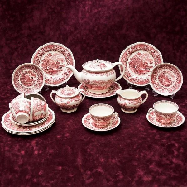 Классический Чайный сервиз «WOOD's BURSLEM» 6-ть персон -21 предмет Фарфор WOOD&SONS, Англия.