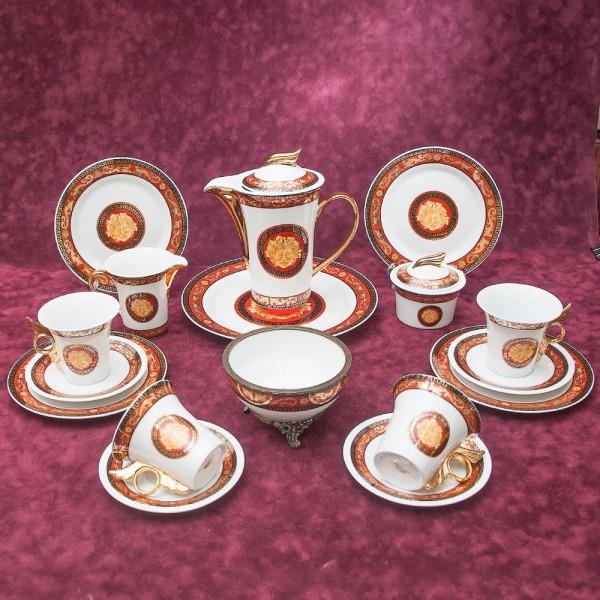 Роскошный Чайный Сервиз «La déesse Cérès» на 4-е персоны, Фарфор, Лимож Limoges Франция.