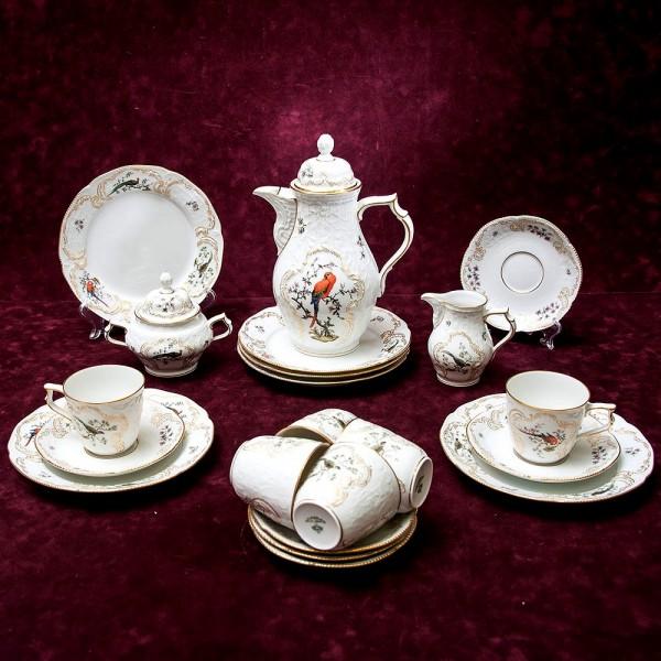 Чайный сервиз «ПТИЦЫ - VOLIERE» на 6-ть персон Фарфор Розенталь / Rosenthal Германия.