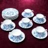 Чайный Сервиз - 6-ть Чайных пар + Тарелка (Тройка) Фарфор MEISSEN / МЕЙСЕН Германия.