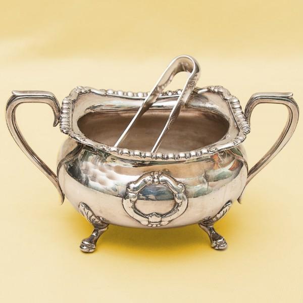Вазочка - Сахарница  со Щипцами, SHEFFIELD Англия Silverplate, начало ХХ века.