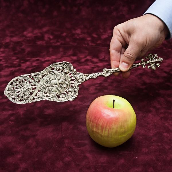 Винтажная Лопатка для подачи Торта «Ангелочек» Silverplate
