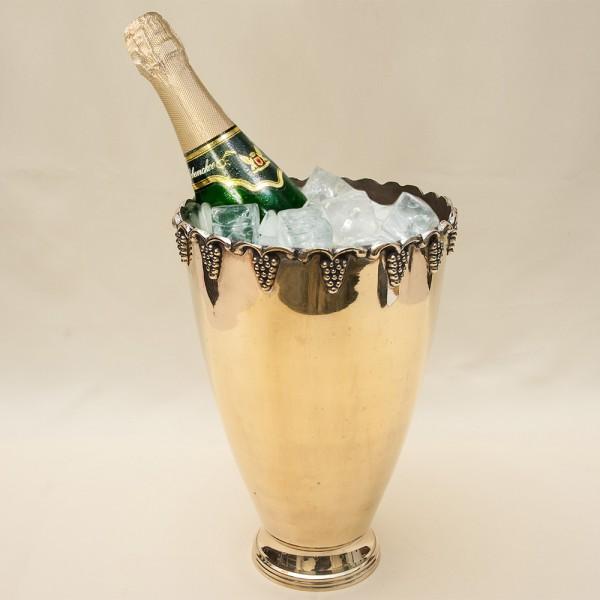 Винтажное Металлическое Ведёрко для подачи Шампанского или Вина Silverplate, Англия 60-е годы ХХ века.