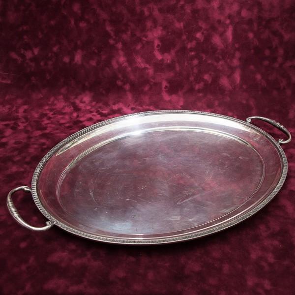 Большой Овальный Поднос для сервировки и подачи готовых блюд SHEFFIELD Англия Silverplate.