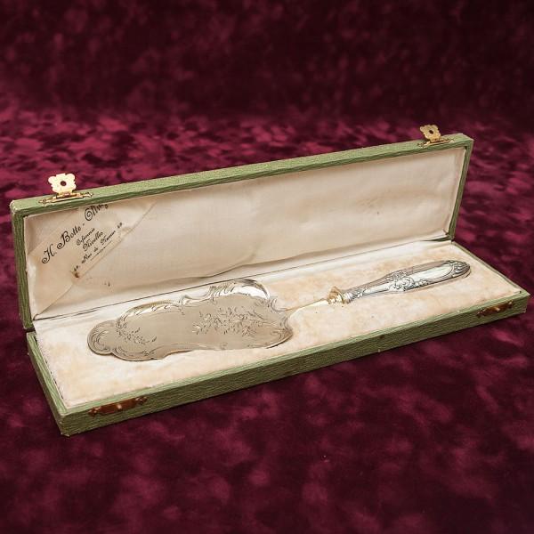 Винтажная Лопатка для подачи десерта, 800-е Серебро, Бельгия, 40- е годы XX века.