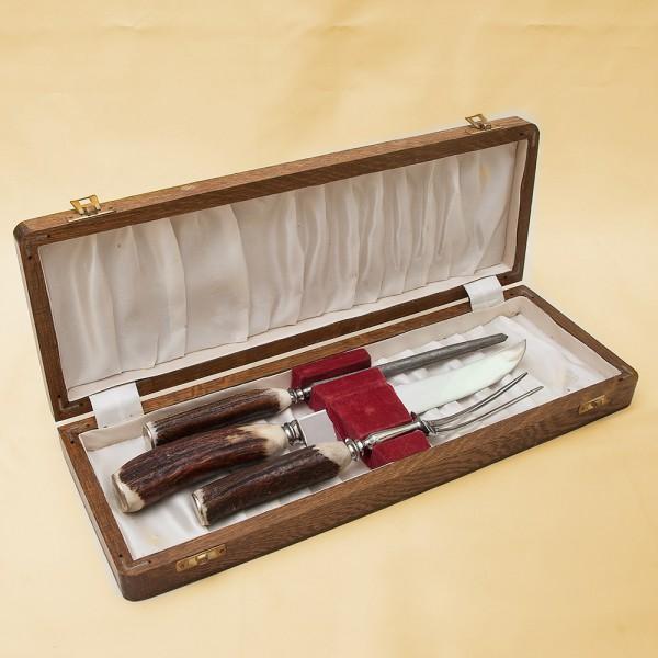 Набор «Охота» для разделки мяса или дичи, Рог, Silverplate, SHEFFIELD Англия 50 -е годы ХХ века.