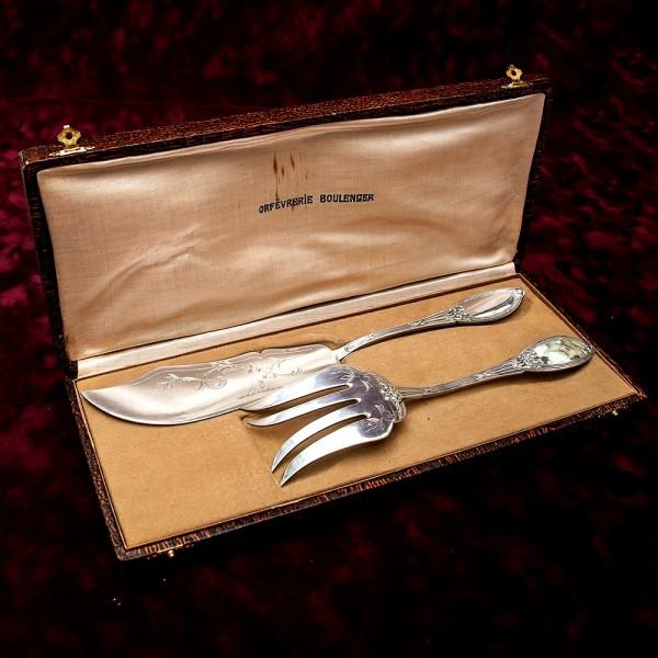 Набор «Boulenger» для набор для подачи готовых блюд, Париж, Франция Silverplate 30 -е годы ХХ века.