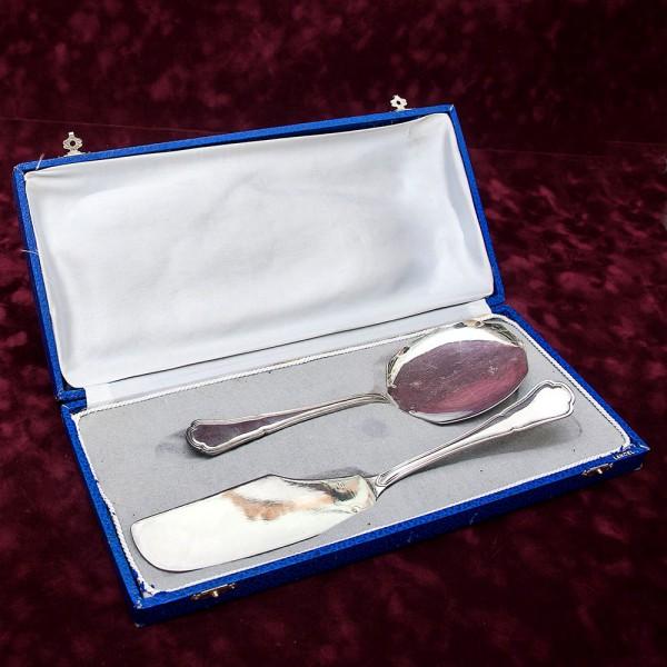 Набор «Две Лопатки» для подачи  готовых блюд Англия Silverplate 60 -е годы ХХ века.