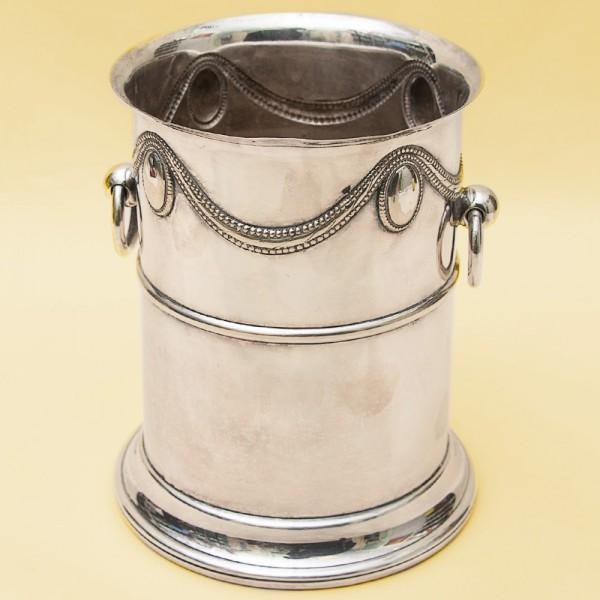 Винтажное Металлическое Ведёрко для подачи Шампанского или Вина Silverplate, Англия 50-е годы ХХ века.