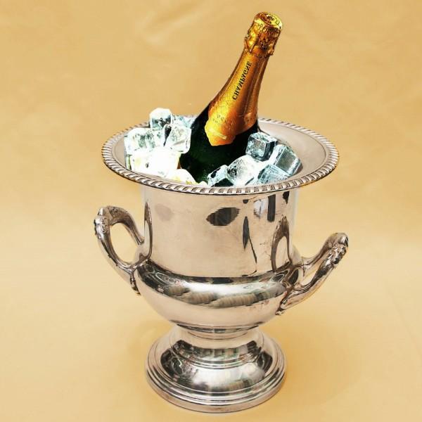 Винтажное Ведёрко для охлаждения шампанского или вина, Silverplate, Англия середина ХХ века.