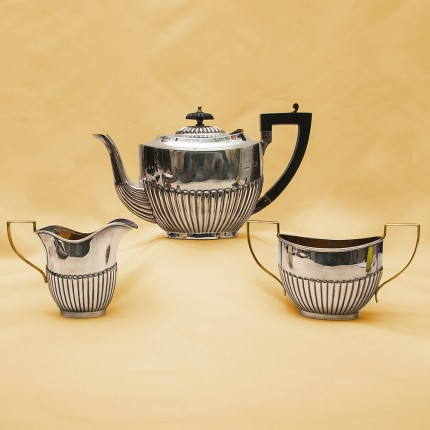 Набор для подачи Чая из 3 -х предметов, металл Silverplate PLATO Англия, середина ХХ века.