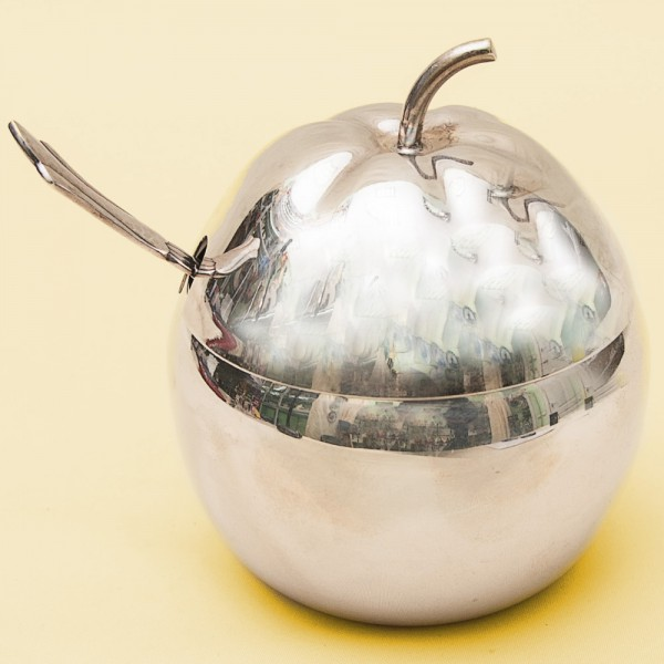 Винтажная Джемница «ЯБЛОЧКО» с Ложечкой, SHEFFIELD Англия Silverplate, 70 -е годы ХХ века.
