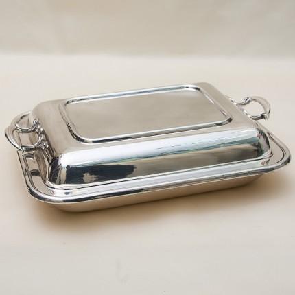 Прямоугольное Блюдо - Судок для сервировки и подачи SHEFFIELD Англия Мелталл Silverplate 70-гг.