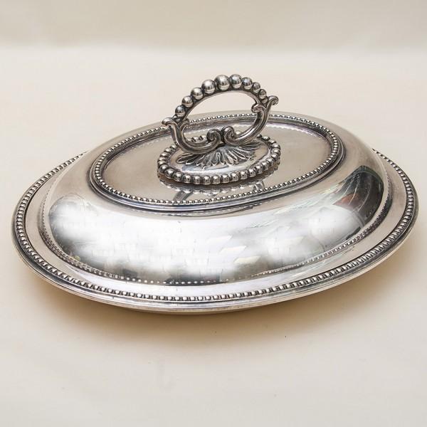 Судок - Блюдо  для сервировки и подачи готовых блюд SHEFFIELD Англия Мелталл Silverplate70-гг.