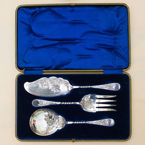 Винтажный Сервировочный Набор Silverplate для подачи готовых блюд, Англия Sheffield 50 гг.