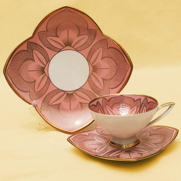 Коллекционная Чайная пара+Тарелка (Тройка) Фарфор ALKA KUNST/KAISER - Германия - 50-е гг.