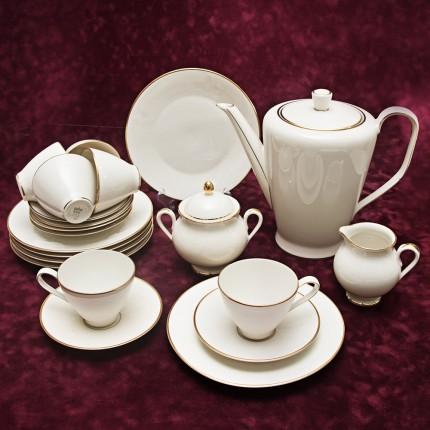 Бежевый Чайный сервиз на 6х Фарфор РОЗЕНТАЛЬ ROSENTHAL , середина ХХ века