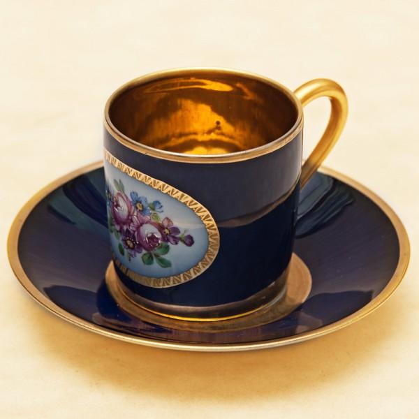 Кофейная Пара «Королевский стиль» Фарфор Лимож Limoges Франция