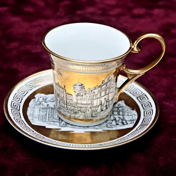 Кофейная Пара «Город Золотой» Фарфор RUDOLF WACHTER Porzellan Бавария