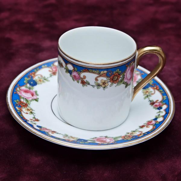 Кофейная Пара «Розы на Синем Канте»  Бавария ХХ век.