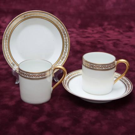 Две Кофейные Пары «Белоснежная Роскошь» Лимож Limoges Франция