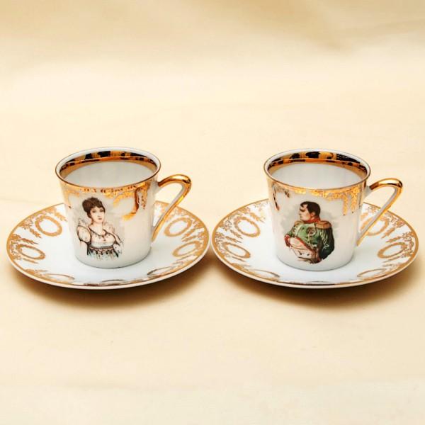 Две Кофейные Пары серия «Наполеон и Жозефина» Лимож Limoges Франция