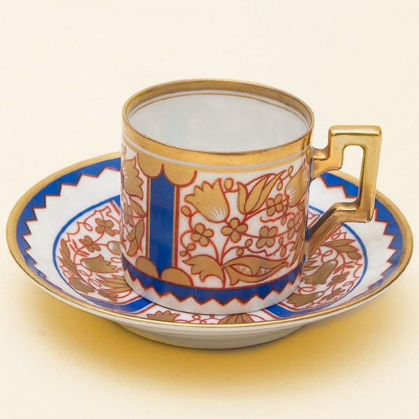 Коллекционная кофейная пара Фарфор TETTAU, Бавария, 30 -е годы ХХ века.