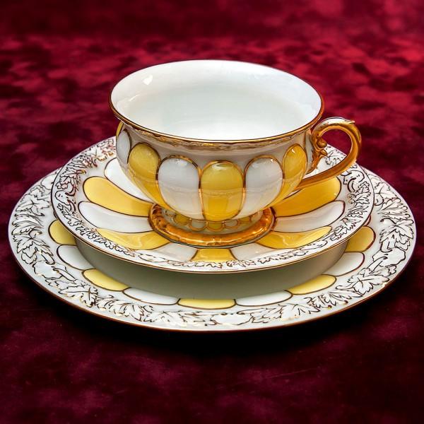Коллекционная Чайная пара+Тарелка (Тройка) Фарфор MEISSEN / МЕЙСЕН Германия 1924-1934 г.