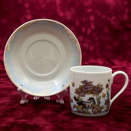 Коллекционная Кофейная пара «Октябрь» Фарфор HUTSCHENREUTHER Германия