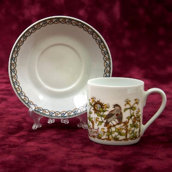Коллекционная Кофейная пара «Июнь» Фарфор HUTSCHENREUTHER Германия