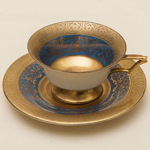 Коллекционная кофейная пара «Золотое Барокко» Фарфор ESCHENBACH, Германия, 40-е гг.