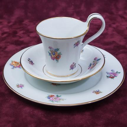 Коллекционная Чайная фарфоровая тройка - «ЛЕТО» Furstenberg, Германия 50 -егоды ХХ века.