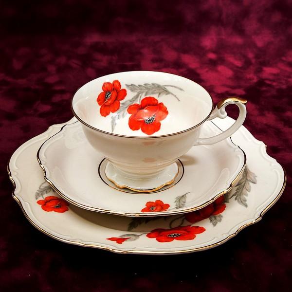 Коллекционная Чайная пара+Тарелка (Тройка) Фарфор Hutschenreuther Германия -1928-43гг.