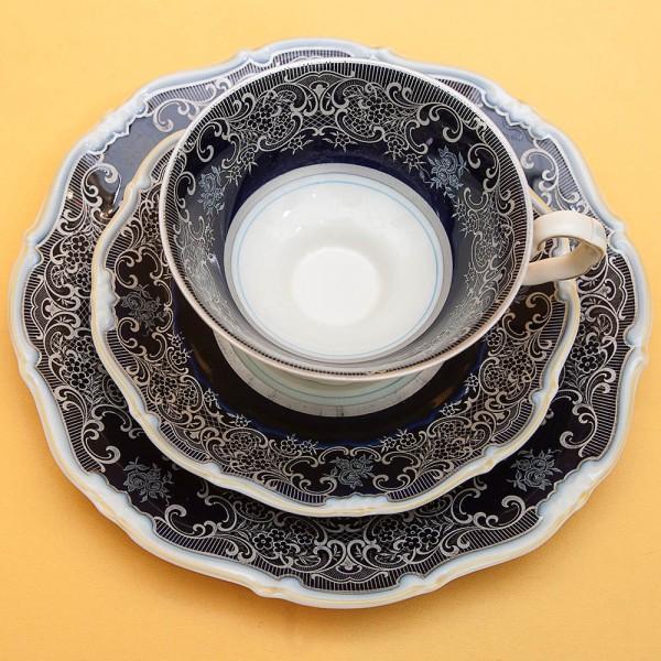 Коллекционная Чайная пара+Тарелка (Тройка) Фарфор WEIMAR Германия -1924-48гг.
