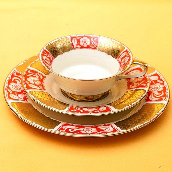 Коллекционная Чайная пара+Тарелка (Тройка) Фарфор РОЗЕНТАЛЬ ROSENTHAL 1891 -1933гг.