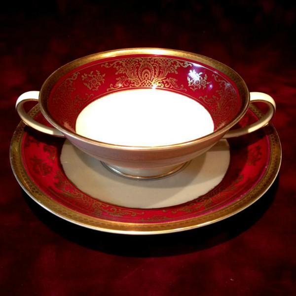 Фарфоровая Бульонная Чашка с Блюдцем РОЗЕНТАЛЬ ROSENTHAL Германия 50 -е годы ХХ века.