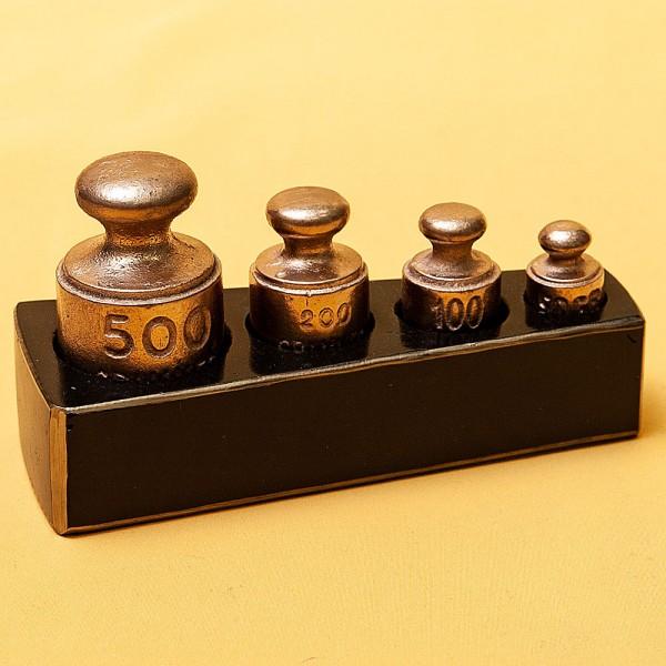 Гирьки для Кухонных Весов, «Малый» набор от 50 гр. до 500 гр. Франция начало ХХ века.