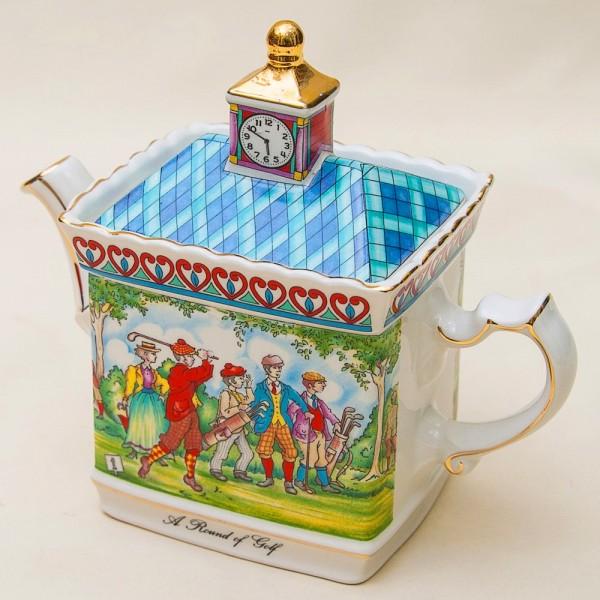 Коллекционный Заварочный Чайник «Игра в Гольф» Фарфор SADLER  Англия.