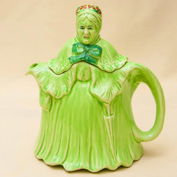Редкость! Коллекционный Заварочный Чайник «LITTLE OLD LADY», Фаянс Англия нач. ХХв.