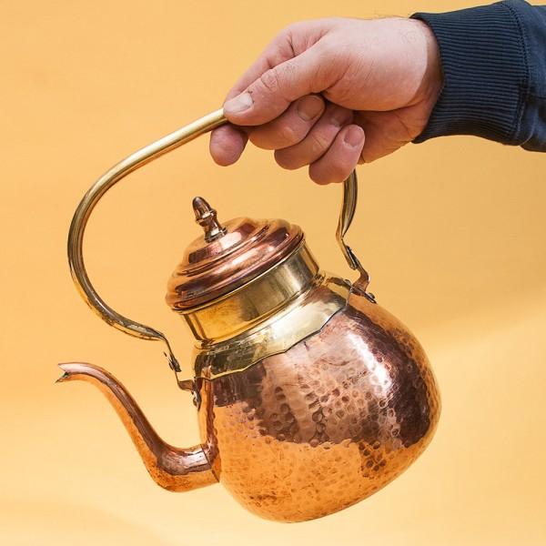 """Медно - Латунный Чайник на 2 литра, от фирмы """"MECAP"""" Бельгия."""