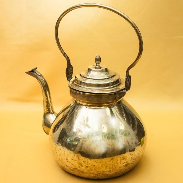 Большой Винтажный Латунный Чайник на 9 литров. Бельгия 50-е годы ХХ века.