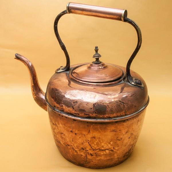 Большой Винтажный Медный Чайник на 4.5 литра  Франция первая половина ХХ века.
