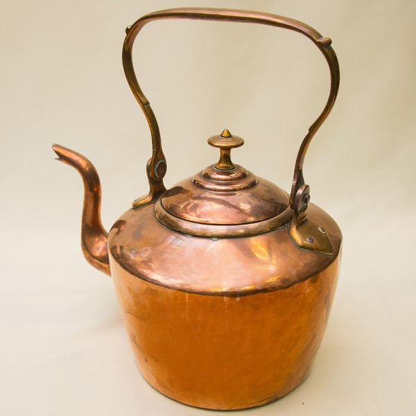 Большой Винтажный Медный Чайник на 6.5 литров  Франция первая половина ХХ века.