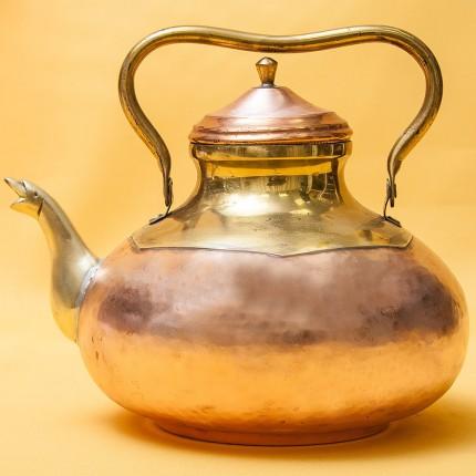 Винтажный Декоративный Медно-Латунный Чайник DINANT Бельгия 80-е годы ХХ века.